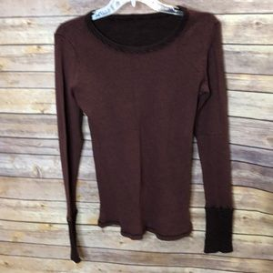 Tops - Crew neck long sleeve knit top-one size.